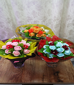 비누꽃다발