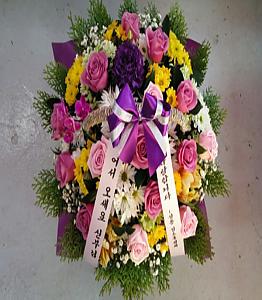 성당 꽃바구니