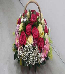 빨간장미 꽃바구니