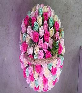 비누꽃 바구니